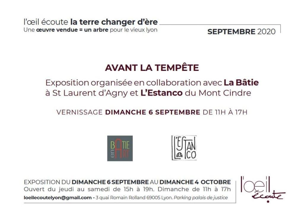 Avant la Tempête - Galerie L'Oeil Ecoute